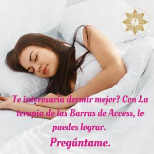 Te interesaría dormir mejor_ Con La terapia de las Barras de Access, lo puedes lograr. Pregúntame.